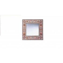 Vierkante spiegel rood