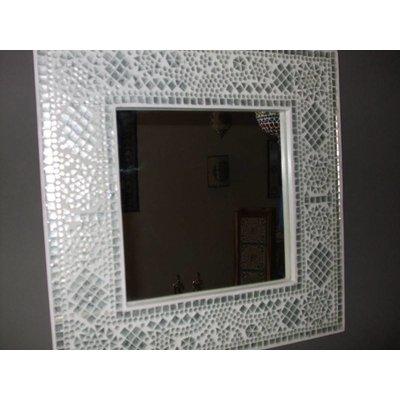 Spiegel transparant glas mozaiek