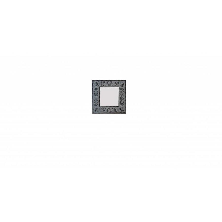 Spiegel zwart wit mozaiek