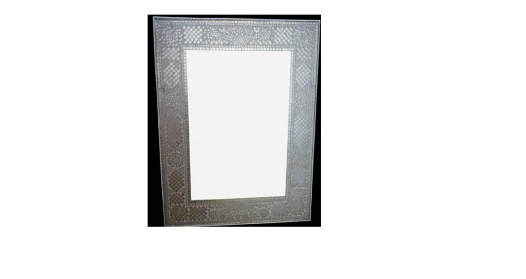 spiegel transparant mozaiek 80 x 60 cm. Black Bedroom Furniture Sets. Home Design Ideas