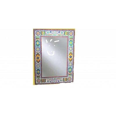 Kleurrijke spiegel mozaiek 80 x 60 cm