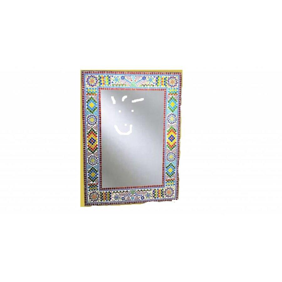 kleurrijke spiegel mozaiek 80 x 60 cm merel in wonderland. Black Bedroom Furniture Sets. Home Design Ideas