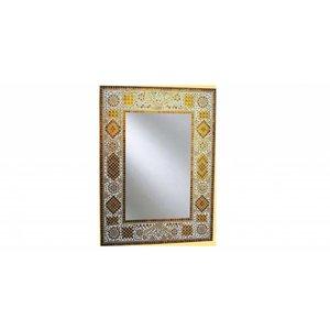 Spiegel bruin mozaiek