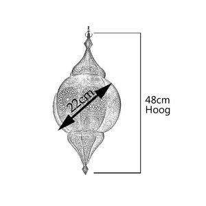 Oosterse hanglamp zwart 1001 nacht design