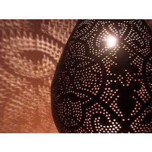Grote Hanglamp druppel zwarte filigrain