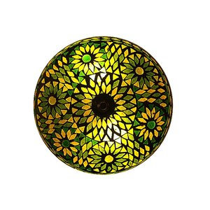 Plafonniere glasmozaïek groen turkish design
