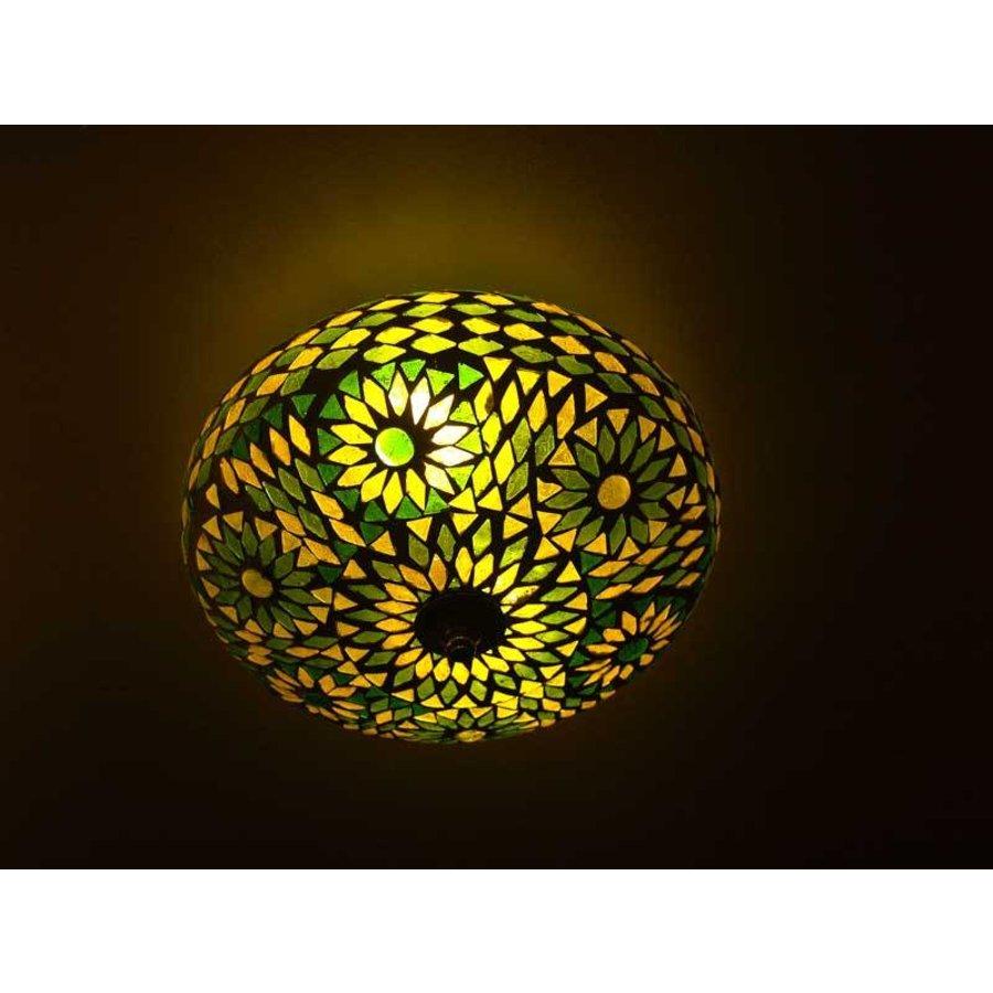 Plafonniere glasmozaïek groen turkish design