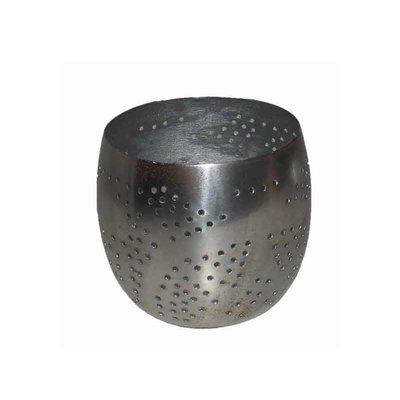 Waxinelicht filigrain zilver rond