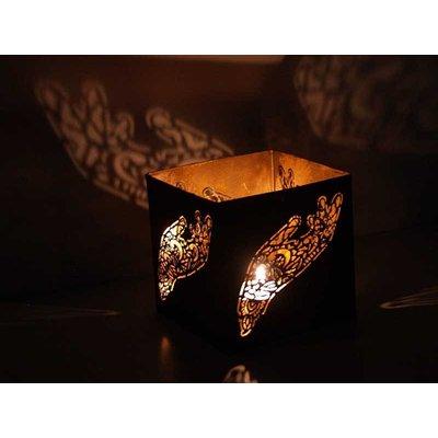 Waxinelichthouder Hindi goud