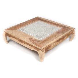 Vierkante salontafel mozaiek