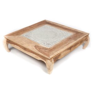 Vierkante salontafel mozaiek transparant