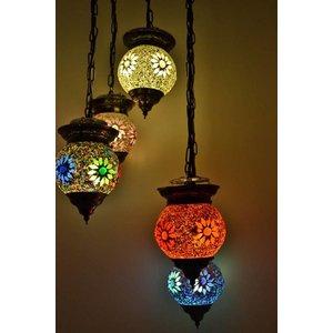 Hanglamp 5 bol multi colour