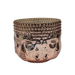 Boeddha waxinelicht bronze