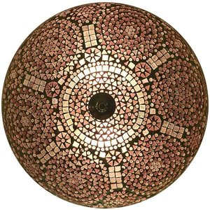 Paarse mozaiek plafonniere