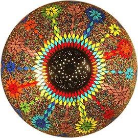 Grote kleurrijke plafonniere