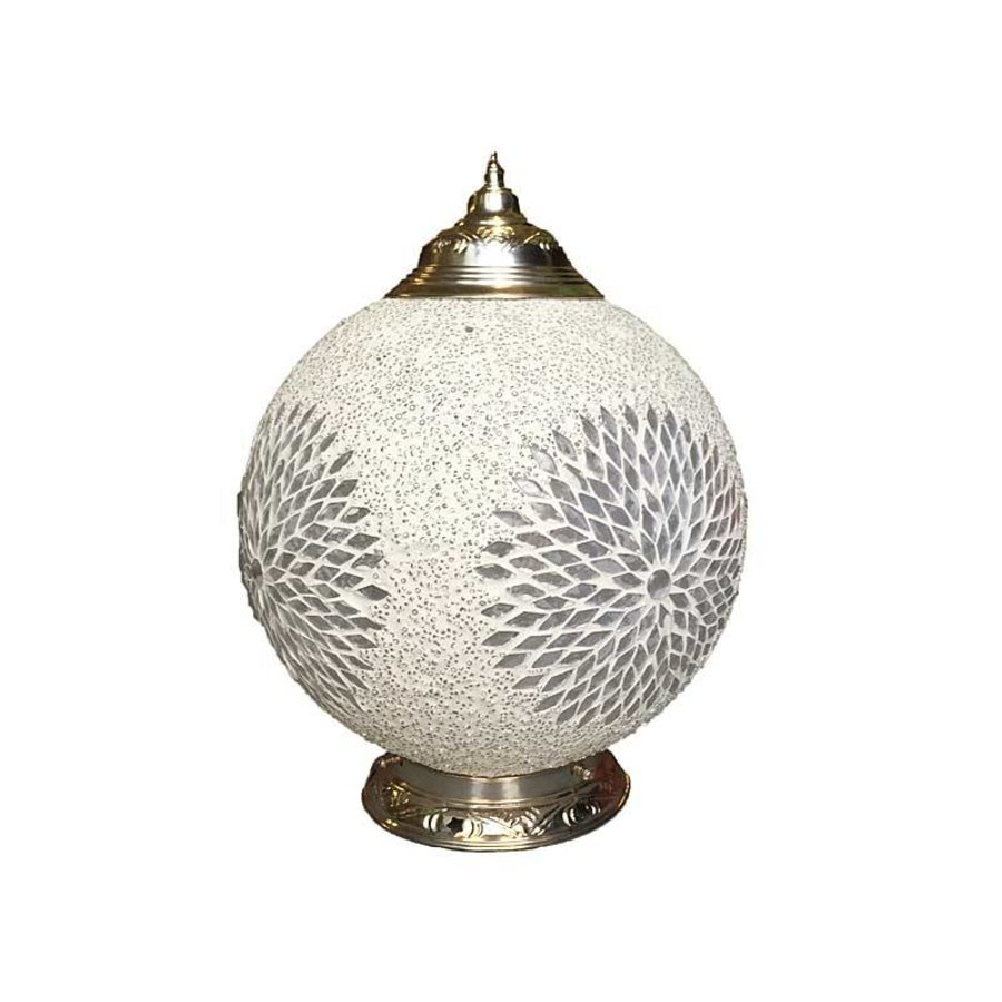 Tafellamp glasmozaïek kraal transparant