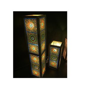 Staande lamp multi colour kraal glasmozaïek