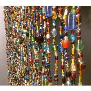 Glaskralengordijn multi colour