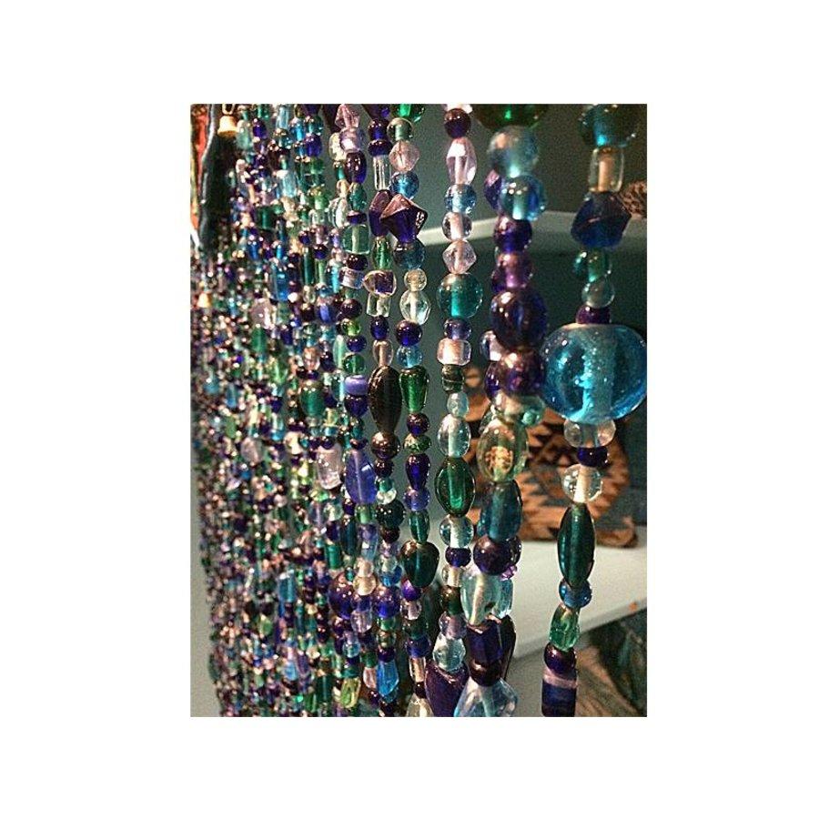 kralengordijn blauw glas