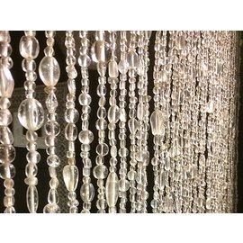 Glaskralengordijn transparant