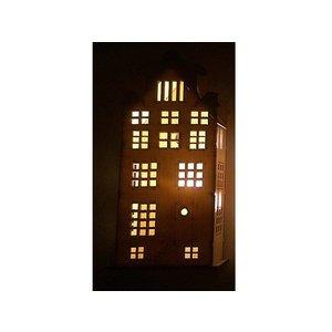 Kersthuisje verlicht met zuignap