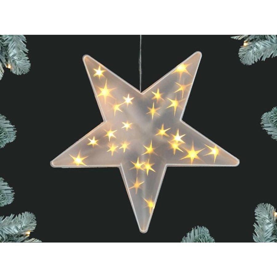 Kerstster met 25 stuks ledverlichting