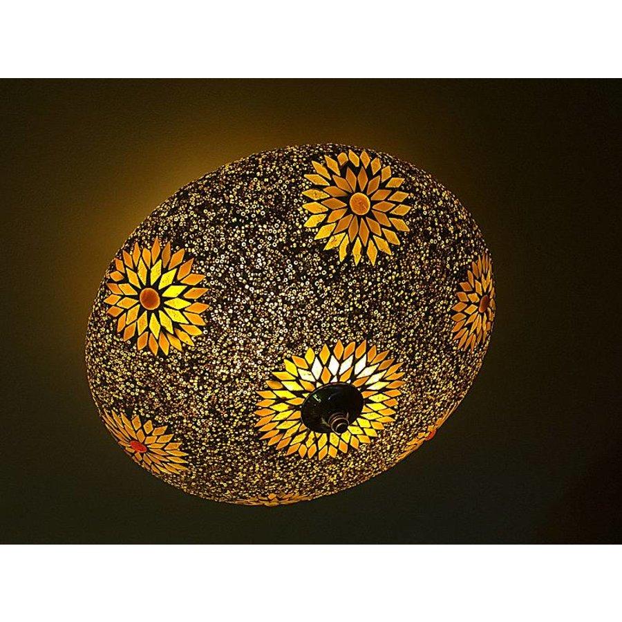 Plafonniere mozaïek kraal bruin (beads)