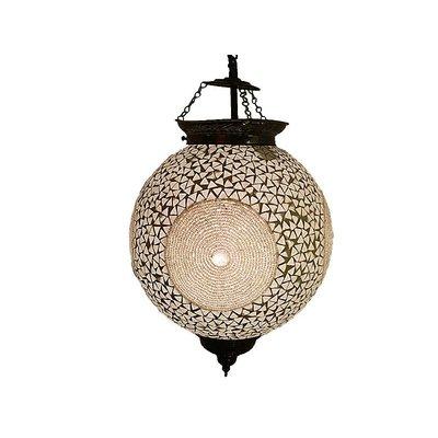Oosterse hanglamp met kraaltjes transparant