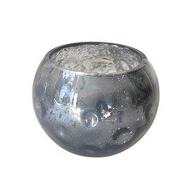 Waxinelicht grijs glas