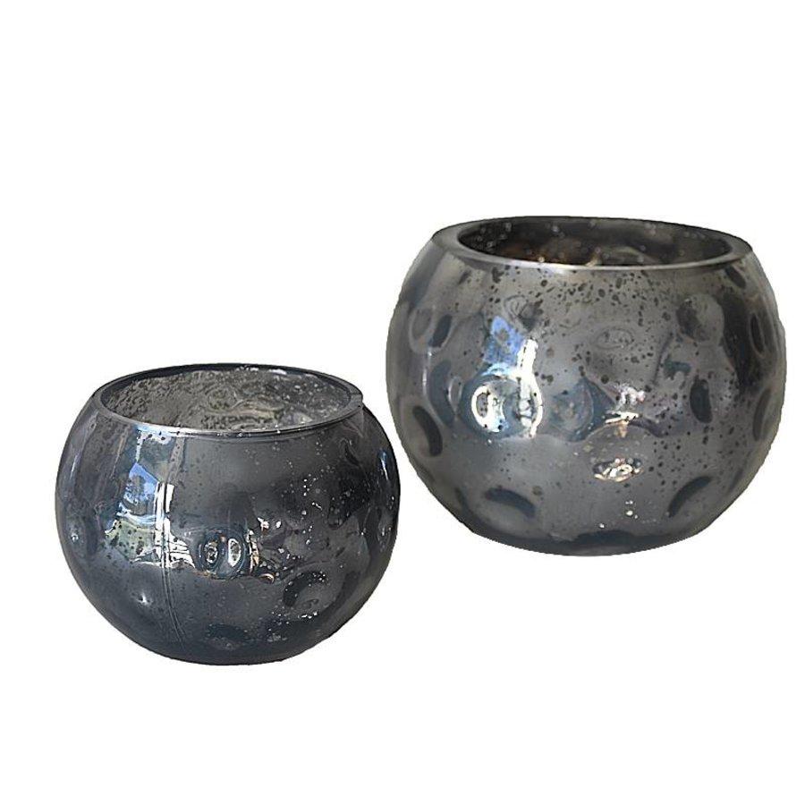 Waxinelicht grijs glas design