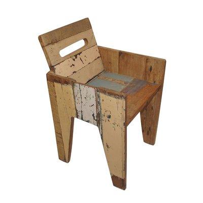 Kinderstoel scrapwood met leuning