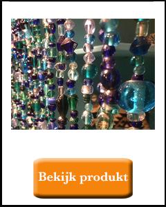 Bluw glas kralengordijn