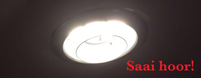 Hoezo een saaie plafondlamp?