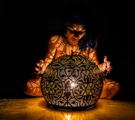 Kunst met verlichting