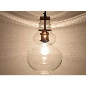 Helder glas met koper oosterse hanglamp