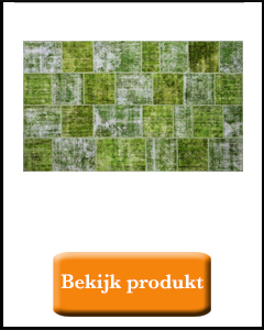 Oosterse badmat groen patchwork