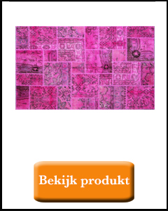 Roze patchwork badmat