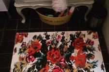 witte rozenkelim badmat