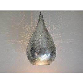 Vintage zilveren  filigrainlamp