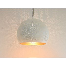 Witte filigrain hanglamp