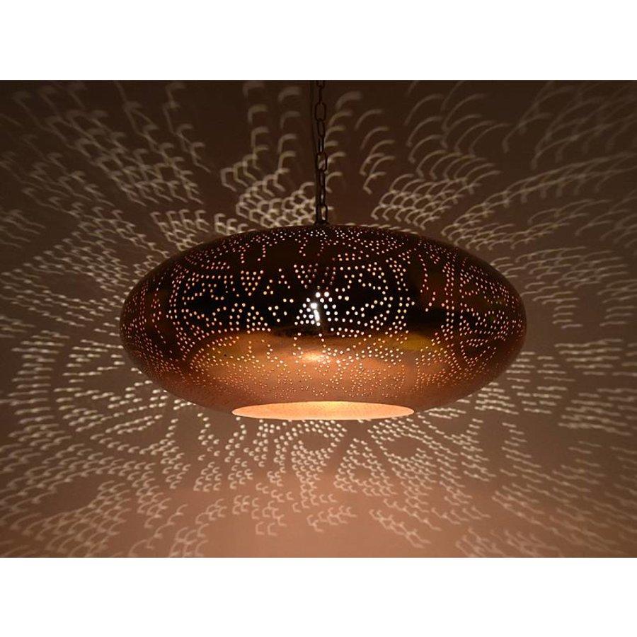 Koperen filigrain vintage hanglamp