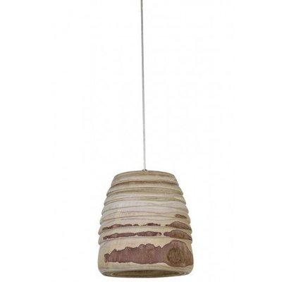Houten robuuste hanglamp