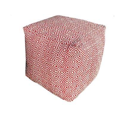 Poef voor buiten rood vierkant