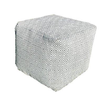 Buitenpoef vierkant grijs