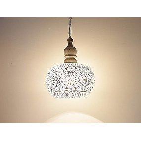 Hanglamp transparant mozaiek