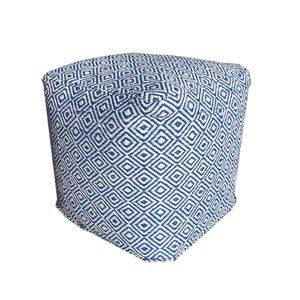 Buiten-tuinpoef blauw kunststof