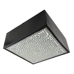 Vierkante oosterse plafonniere transparant