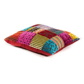 Sierkussen patchwork multi colour
