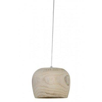 Ronde houten hanglamp