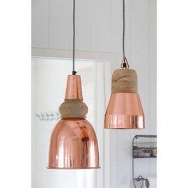 Koper hanglampje met hout